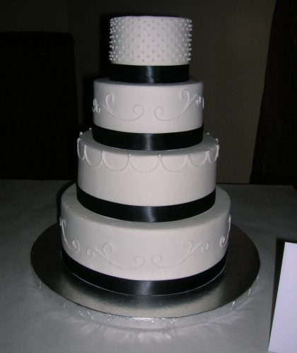 Four Tiers Trimmed in Black