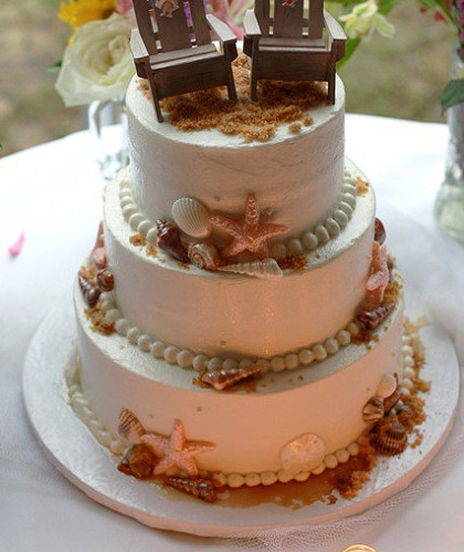 Three Tiers with Beach Theme
