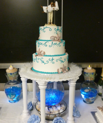 Three Tiers with Beach Accents