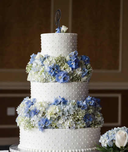 Three Tiers with Fresh Flowers