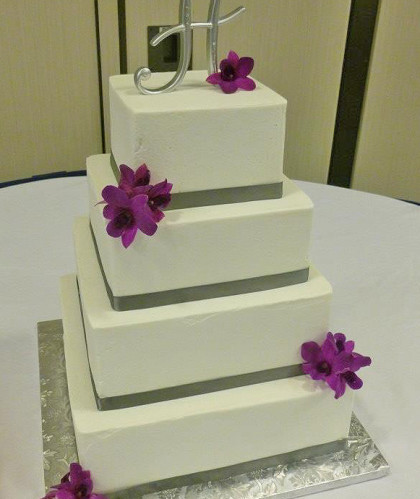 Four Square Tiers with Silver Accents