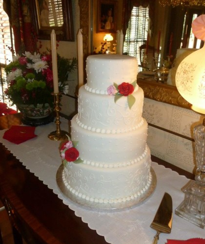 Classic Four Tier with Roses