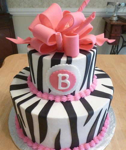 Zebra Stripes with Curled Ribbon