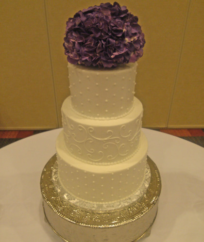 Three Round Tiers with Fresh Flower Topper