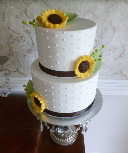 Two Round Tiers with Sunflowers
