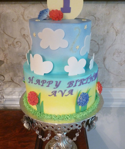 Flowers and Clouds – First Birthday