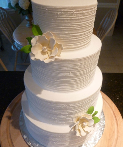 Four Tier White