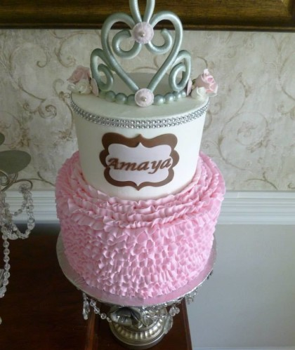 Two Tiers with Ruffles and Tiara