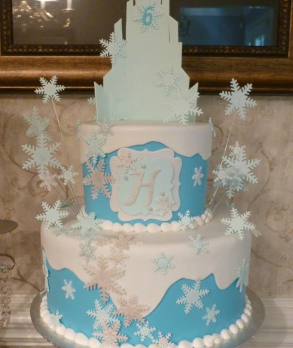 Two Tiers with Snowflakes
