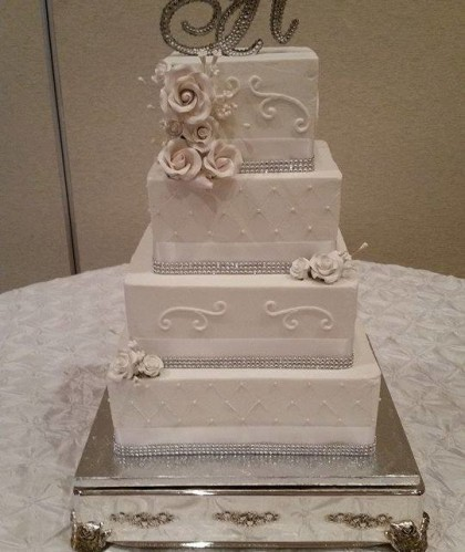 Four Tiers with Silver Detail