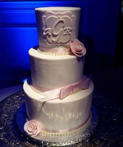 Three Tiers with Pearl Detail and Monogram