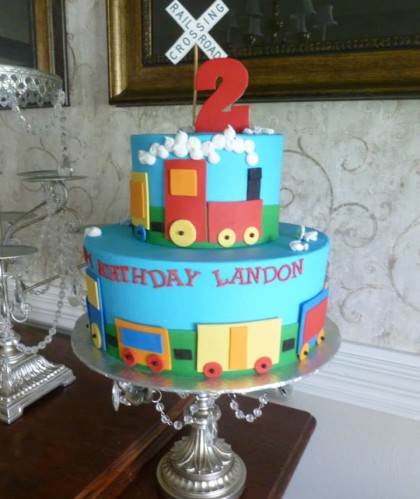 Two Tiers with Train Theme