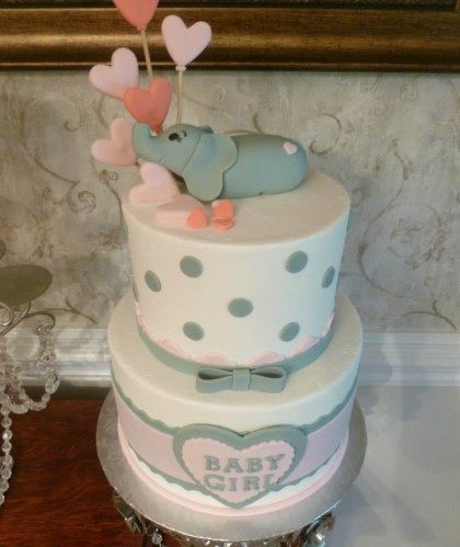 Two Tiers with Baby Elephant