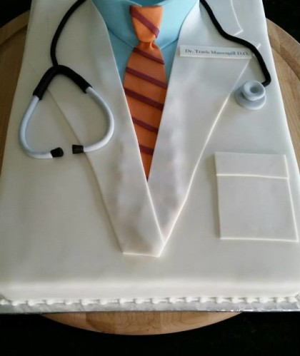 Lab Coat and Stethoscope