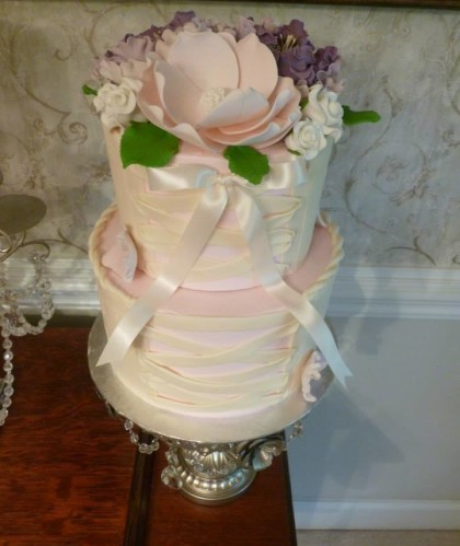 Two Tiers with Flowers and Corset