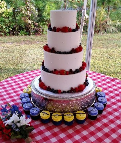 Four Tiers with Fresh Berries