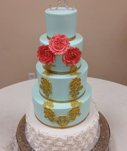 Five Tiers with Gold and Silver Accents