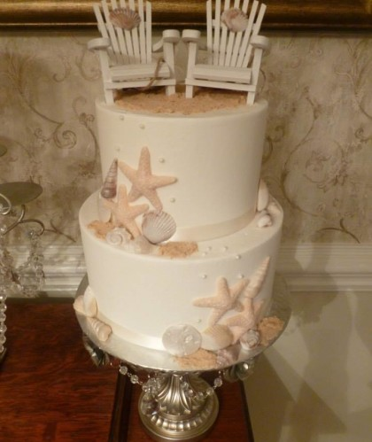 Two Tiers with Seashells