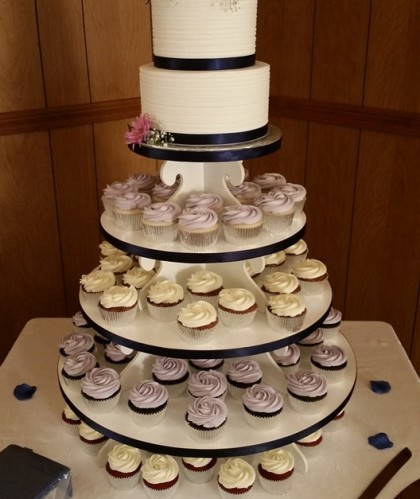 Two Tier Ribbon and Flowers