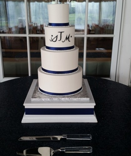 Four Tier with Monogram