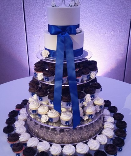 Two Tiers with Ribbons