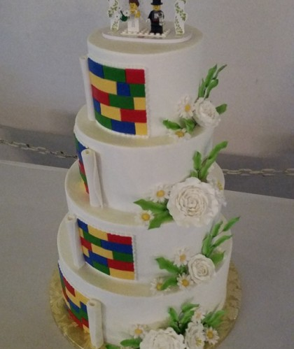 Four Tier with Legos