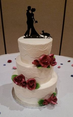 Three Tiers with Silhouette Couple