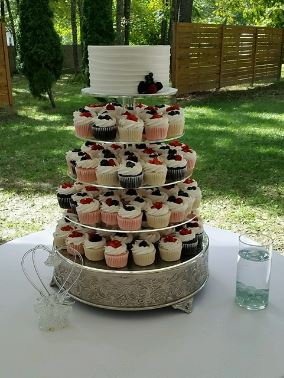 Four Tiers with Single Cake Layer