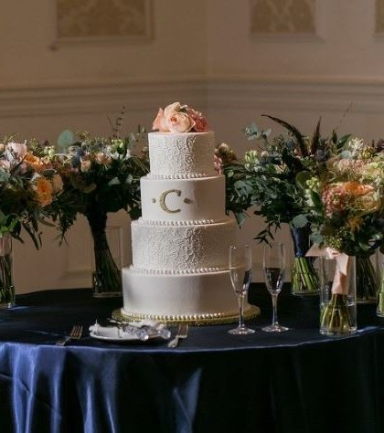 Four Tiers with Monogram