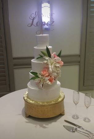 Five Tiers With Lilies