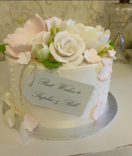 Best Wishes With Icing Flowers