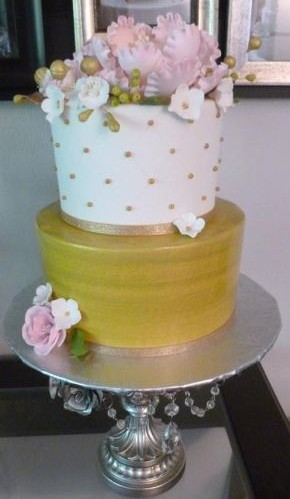 Pink & Gold With Flowers