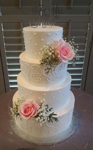 Four Tiers With White Scrollwork