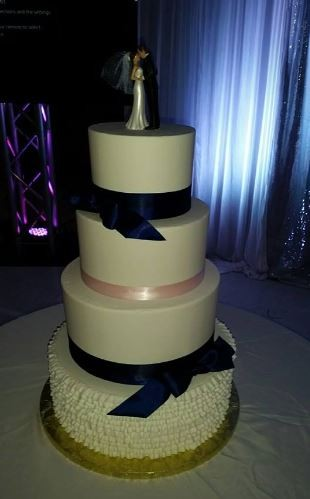 Four Tiers With Ribbons