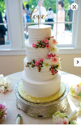 Four Tiers With Fresh Flowers