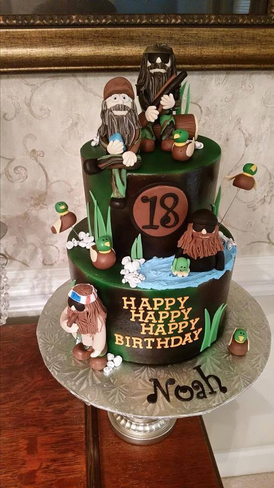 Strange Two Tier Duck Dynasty Cakes By Crystal Personalised Birthday Cards Veneteletsinfo