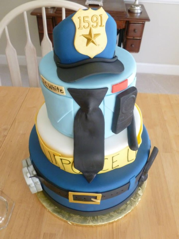 Three Tier Police Officer Uniform Cakes By Crystal